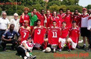 U17 A invaincus et Champions de DHR !